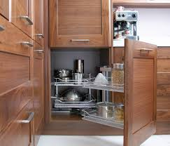 storage in kitchen cabinets with zigzag shaped wine racks multi