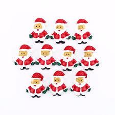 10pcs santa ornaments decor flatback appliques for phone