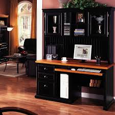 Desk With Computer Storage Funiture Computer Desk For Home Ideas With Black Wooden Hutch