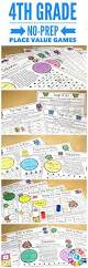 Place Value Worksheets For 4th Grade 4th Grade Math Centers 4th Grade Place Value Games 4 Nbt 1 4
