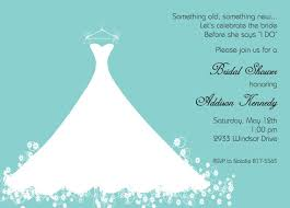 bridal lunch invitations bridal shower invitation aqua blue wedding gown printed