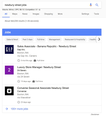 is google testing its own jobs search engine