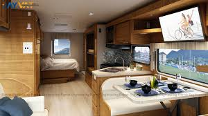 3d architectural visualization design for a motorhome