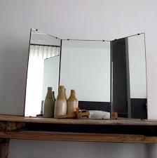mirrors astounding white tri fold mirror white tri fold mirror