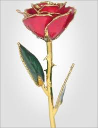 glass roses lacquer and gold dipped gold roses 24kt gold trimmed