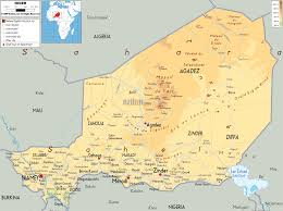Africa Physical Map Physical Map Of Niger Ezilon Maps