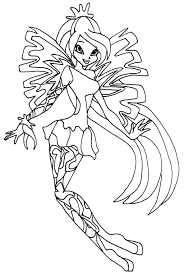 club bloom enchantix coloring pages