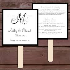 wedding ceremony program fans monogram program fans kit printing included wedding ceremony