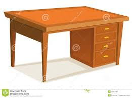 Office Desk Furniture Cartoon Office Desk Royalty Free Stock Photography Image 31687487