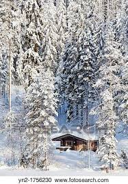 stock photography of small sauna cabin in the forest by a frozen