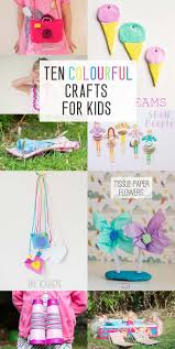 ten colourful crafts for kids colorful crafts simple craft
