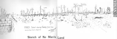 26 4 10 sketch of no man u0027s land drawing walter m draycott