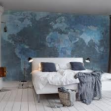 Wall Map Murals Designer Wallpaper Bedroom Feature Wall World Map Mural 405x270cm