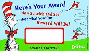 amazon com eureka dr seuss assorted scratch off reward cards