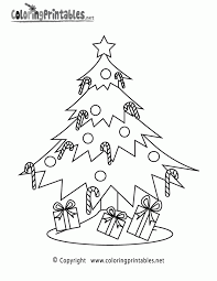 christmas christmas tree coloring free pages