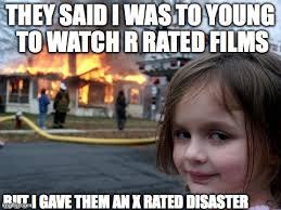 Xrated Memes - disaster girl meme imgflip