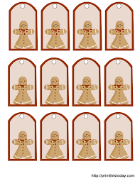 printable gingerbread man gift tags free printable christmas gift tags
