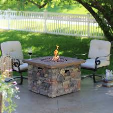 red ember sheridan 35 in square fire pit table with free cover