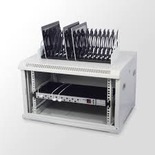 16 port usb tablet charging station from lindy uk
