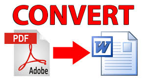 Word To Pdf How To Convert Pdf File To Doc Docx Word File Tutorial