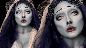 corpse bride emily halloween costume makeup tutorial youtube