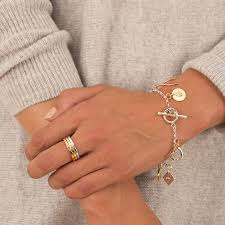 ring charm bracelet images Personalised classic charm bracelet by posh totty designs jpg