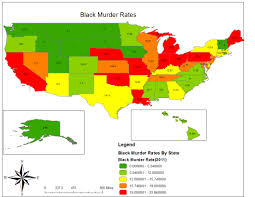 Map If Us Map Of Us States By Murder Rate 2011 South California Florida