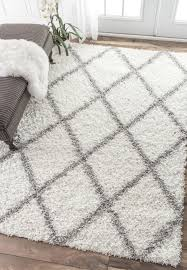 Best Shag Rugs Bad Reviews Nuloom Alexa My Soft And Plush Moroccan Trellis White