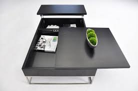 Pull Out Table P209a Modern Coffee Table W Pull Out Tray And Storage