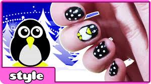 penguin nail art tutorial diy penguin nails cute and easy nail