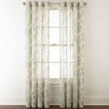 Sheer Curtains Grommet Top Jcpenney Home Bismarck Grommet Top Sheer Curtain Panel Jcpenney