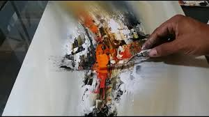 outstanding pallet painting ideas 12 abstract painting easy blending and palette knife technique