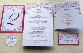 indian wedding programs indian wedding program floral lotus ceremony program