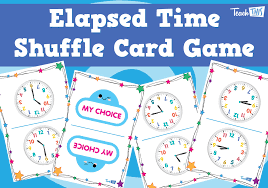 elapsed time shuffle card game fun printable classroom games and