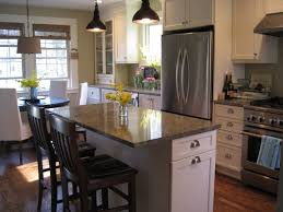 pictures of kitchen islands in small kitchens small kitchens with islands designs with modern 2door refrigerator