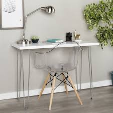 wrought studio bisson hairpin leg wood writing desk u0026 reviews