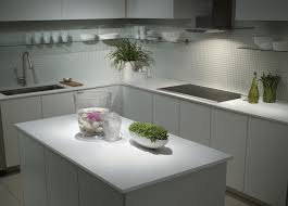 White Modern Kitchen by Kitchen Design Pulldown Faucet Glass Shelves White Modern Kitchen