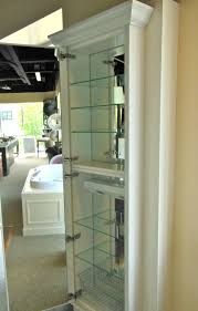 shelves glass doors