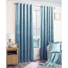 Turquoise Velvet Curtains Luxury Crushed Velvet Fully Lined Eyelet Curtains Duck Egg