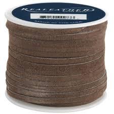 brown ribbon leather ribbon