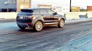 retro range rover 1 4 mile drag race range rover evoque 16 487 sec youtube
