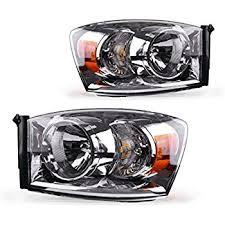 dodge ram headlight amazon com dodge ram 1500 2500 3500 headlights headls