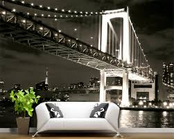 compare prices on black wall murals online shopping buy low price beibehang custom wallpaper living room bedroom mural us golden gate bridge black and white 3d backdrop