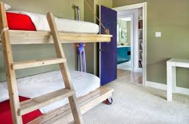 Bunk Bed Without Bottom Bunk Bedrooms Why Not Put The Lower Bunk On Casters 50 Modern Bunk