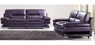 Leather Modern Sofa by 2757 Modern Full Italian Purple Leather Living Room Set