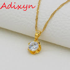 womens gold pendant necklace images Adixyn small flower pendant necklaces for women gold color jpg