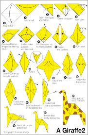 giraffe 2 easy origami instructions for kids