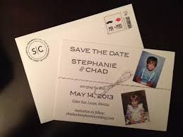 wedding invitations stamps save the date using childhood photos letterpress stamps made on