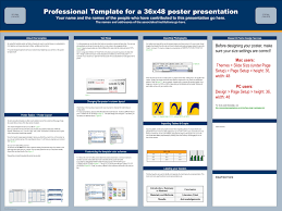 template design professional template for a 36x48 poster