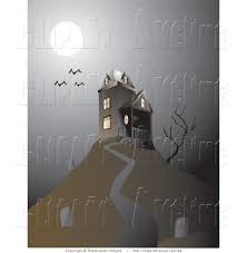 haunted house on a hill clipart clipartxtras